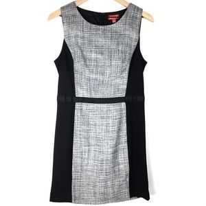 Elle Dress 6 Tweed Sleeveless Sheath Plaid Fitted
